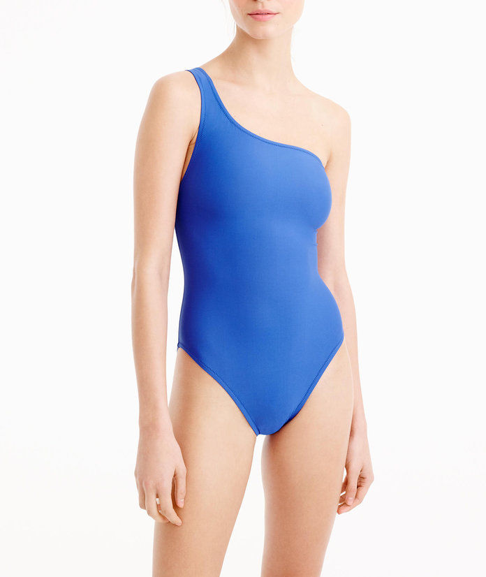 제이 CREW One-shoulder one-piece swimsuit