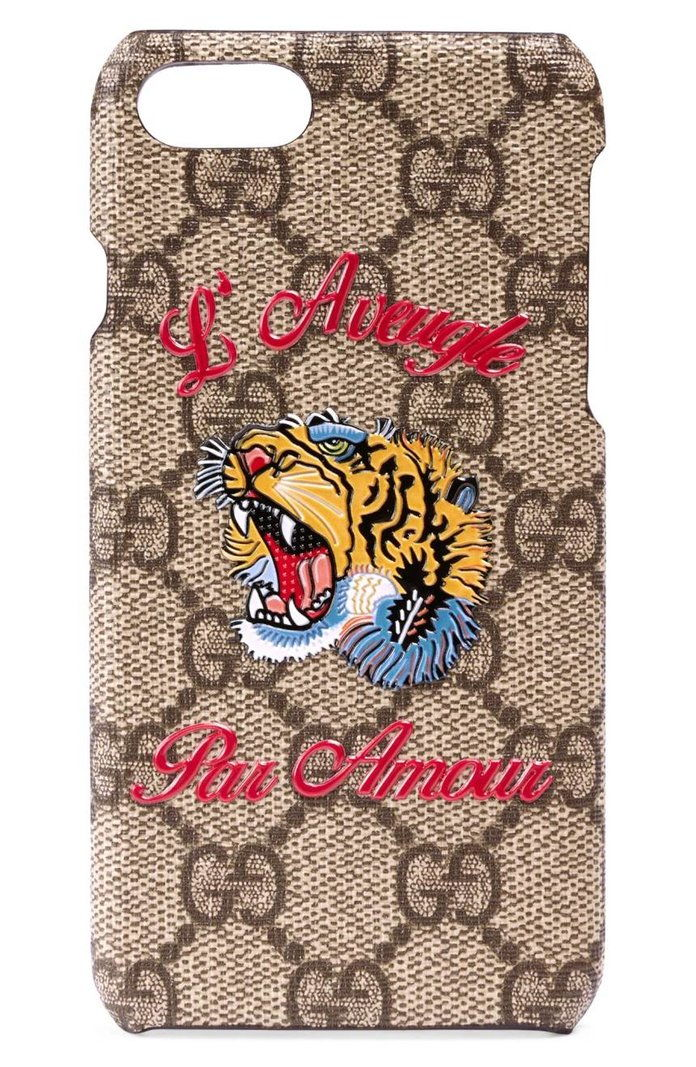 גוצ'י L'Aveugle Par Amour GG Tiger iPhone 7 Case