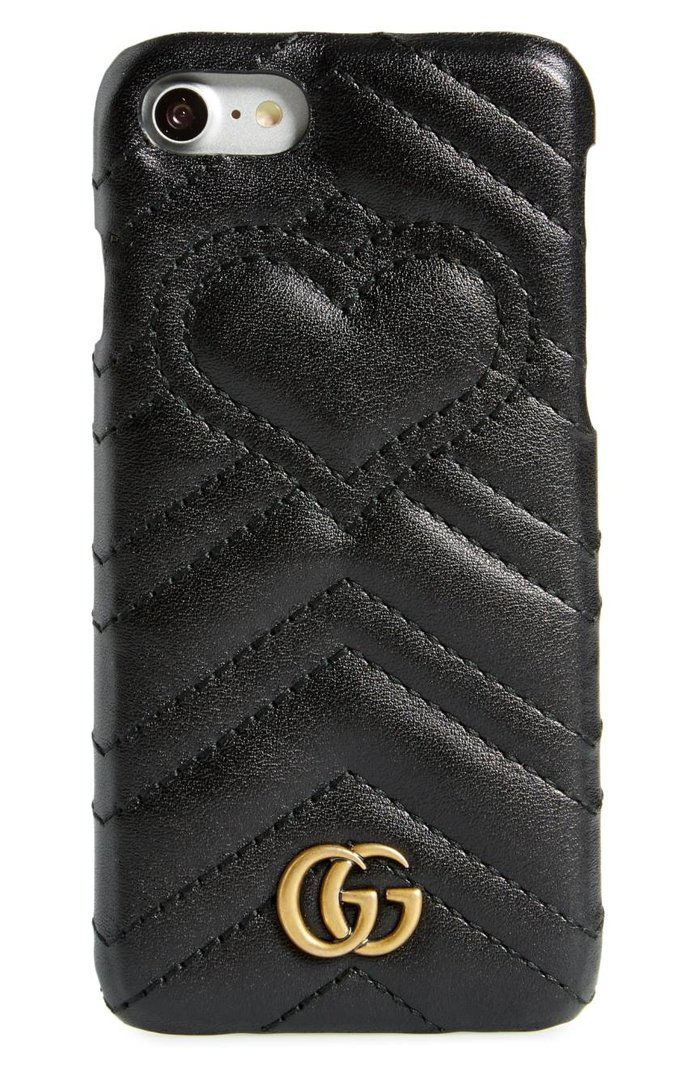 גוצ'י GG Marmont Leather iPhone 7 Case