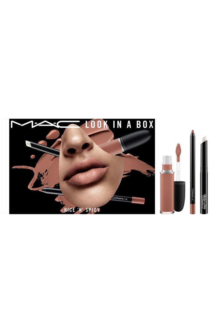 מק Look in a Box Nice 'n Spicy Lip Kit