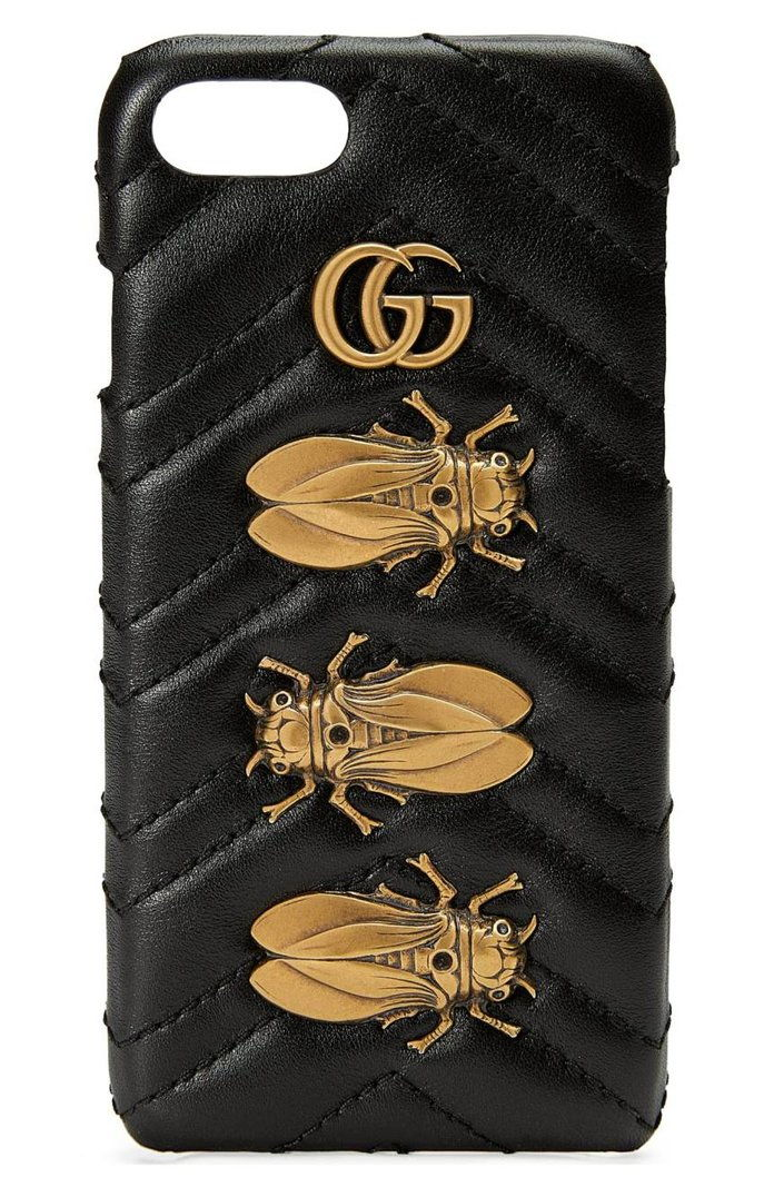 גוצ'י GG Marmont 2.0 Matelassé Leather iPhone 7 Case