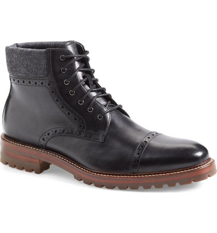 J & M 1850 'Karnes' Brogue Cap Toe Boot