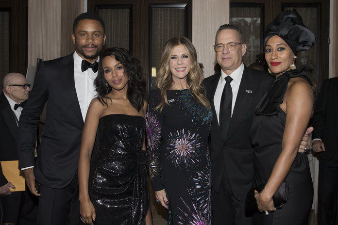 ナンナディ Asomugha, Kerry Washington, Rita Wilson, Tom Hanks, and Tracee Ellis Ross