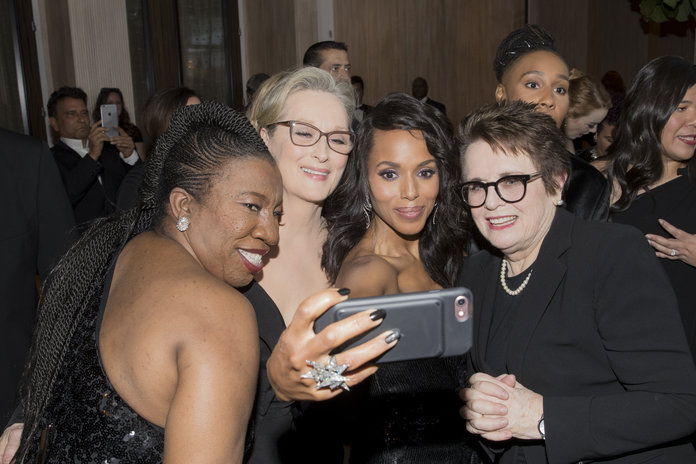 タラナ Burke, Mery Streep, Kerry Washington, and Billie Jean King