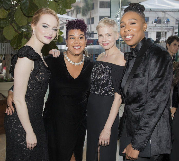 エマ Stone, Rosa Clemente, Michelle Williams, and Lena Waithe