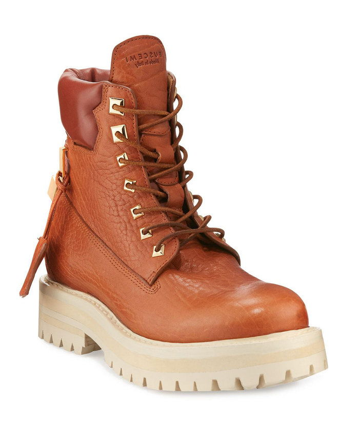 Buscemi Lace-Up Leather Site Boot