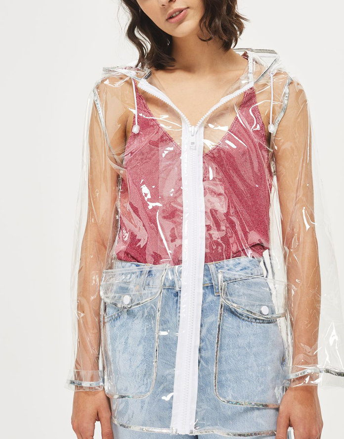 Topshop Transparent Raincoat Mac