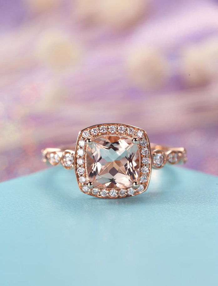 HELLORING Vintage rose gold ring