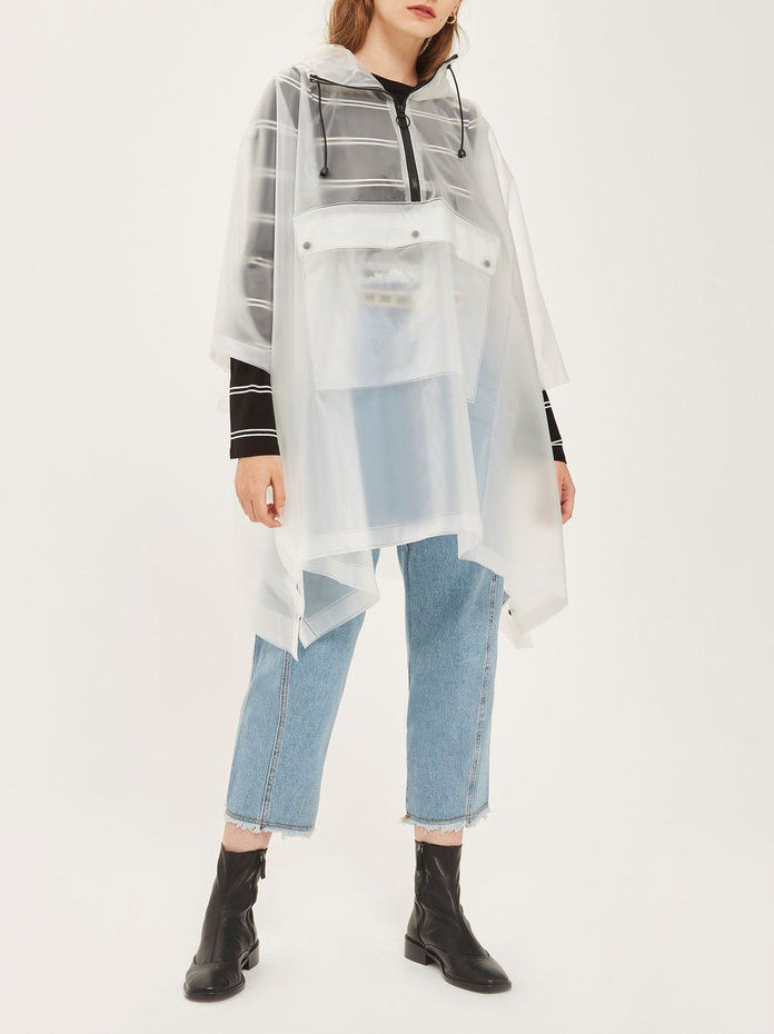 Topshop Clear Poncho Raincoat