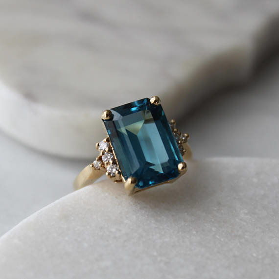 menkDuke Vintage Cocktail Gemstone Ring