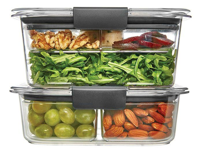 Rubbermaid Brilliance Salad/Snack Lunch Storage Container Combo Kit