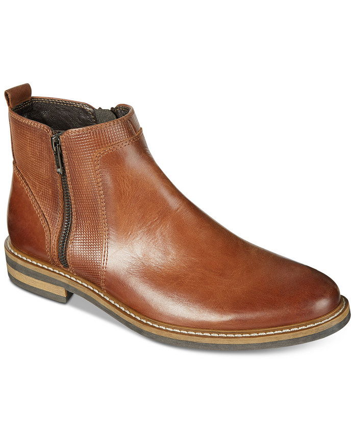 אלפאני Men's Jayce Textured Chelsea Boots